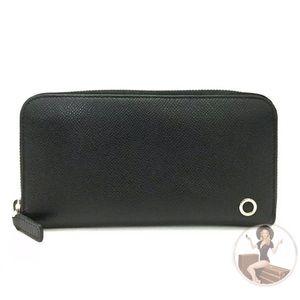 BVLGARI Leather Zippy Zip-Around White Gold Wallet